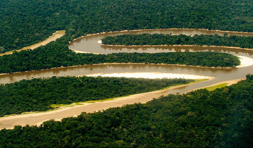 River of Amazon on the Peru part.