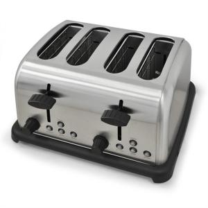 TK-BT-211-S Retro Toaster 4-slices Stainless Steel 1650W - Silver