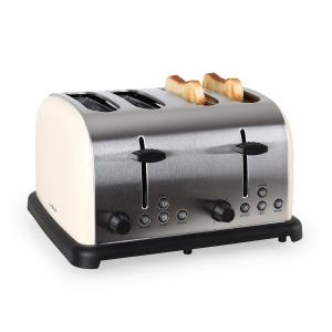 TK-BT-211-C Toaster grille-pain 4 tranches 1650w inox -crème