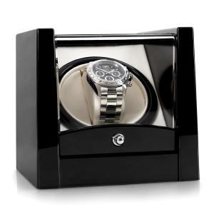 Cannes One Watch Winder Display Box - Piano Black