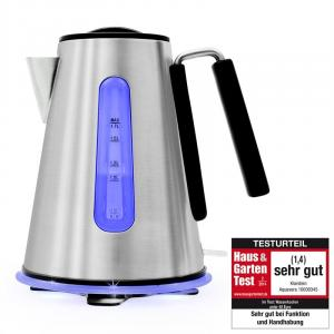 Aquavera Cordless Kettle 1.7L 2200W Stainless Steel Silver