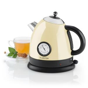 Aquavita Kettle 1.5L 2200w Stainless Steel Cream