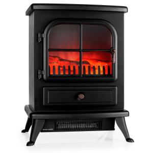 St. Moritz Electric Fireplace Heater 1800W