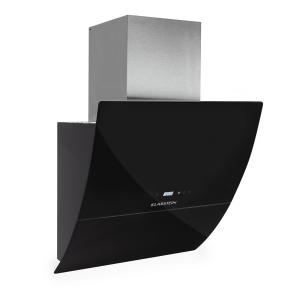 RGL600BL ergonomic extractor hood 3 power levels 600 m³/ hr 60cm black glass