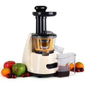 Fruitpresso Slow juicer vertical extracteur de jus lent 70t/mn -crème
