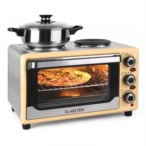 Omnichef 23HC Mini Oven with Hot Plates 1500W 23L Cream