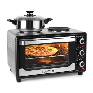 Omnichef 23HB Mini Oven with Hot Plates 1500W 23L Black