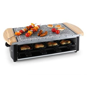 Chateaubriand raclette- grill natuurstenen plaat 8 personen 1200W
