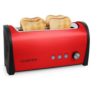 Klarstein Cambridge dublu lung Slot toaster 1400W roșu