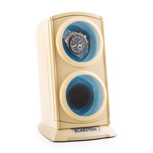 St. Gallen Premium Watch Winder 2 Watches LED Cream