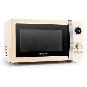 Fine Dinesty 2in1 Microwave Oven Retro 23L 800W 12 Programs Cream