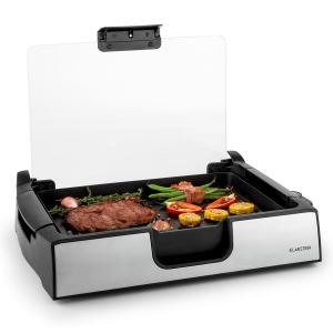 Showmaster Table Grill 1500W up to 250°C Glass Cover