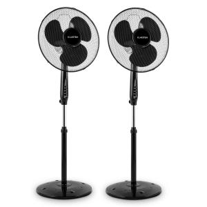 Klarstein Black Blizzard 2G Stand Fan Set of 2 50W 40.6cm Oscillation