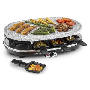 Steaklette Raclette Grill 1500W Granite Natural Stone Plate 8 People