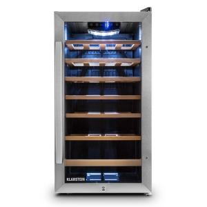 Vivo Vino 26 Wine Refrigerator 26 Bottles 88 Litre Stainless Steel LED Black