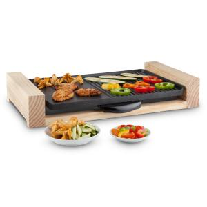 Lumberjack Table Top Electric Grill 2300W Rustic Wood