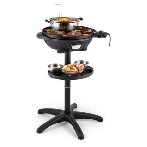 Grillpot - Grill électrique / barbecue de table plaque en fonte Ø 40cm