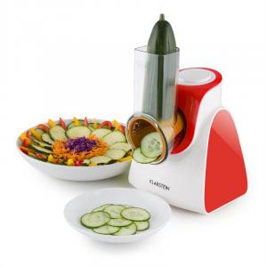 Carrot & Rock Salad Cutter Slicer Grater 150W 5 Attachments Red
