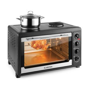 MasterChef 60 Mini Oven 2500W + 1600W 60 Litre Stainless Steel Black