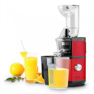 Fruitberry Slow Juicer 400W 60 T/min Vulbuis Ø8,5cm Roestvrij Staal rood