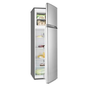 Height Cool Silver Refrigerator Freezer Combination 199/53l2-Door A++ Silver
