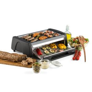 Doppeldecker Four Grill Barbecue 2-en-1 revêtement antiadhésif - inox