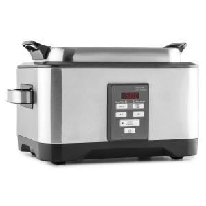 Deepdive Sous Vide Steamer Slow Cooker 8l 550 W Brushed Stainless Steel
