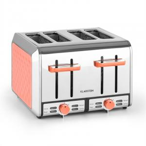 Curacao Coral Toaster 4 Slice Toaster Stainless Steel 1500 Watt coral