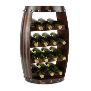 Barrica Wood Wine Rack Wine Barrels Bottle Rack 14 Bottles Spruce