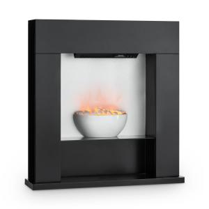Studio-8 Electric Fireplace LED Flames 2000W 40m² MDF black