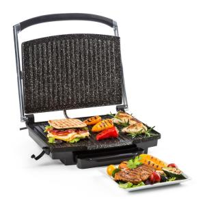 Edelstein Multi-Contact Grill Panini Maker 2000W 240 ° C Stainless Steel Black