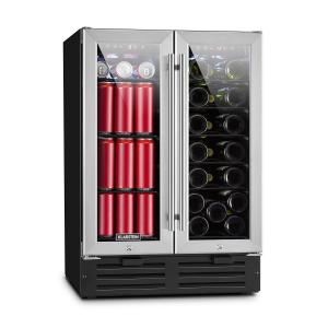 Beersafe XXXL Double Wine Refrigerator 116l 18 Bottles Glass Stainless Steel