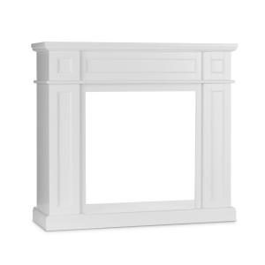 Lausanne Frame Fireplace Mantel MDF Classic Design White