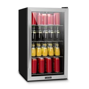 Beersafe 4XL Beverage Cooler Drinks Refrigerator 124l 0-10 ° C Glass EEK A + Stainless Steel