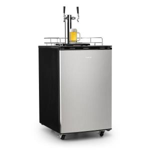 Klarstein Big Spender Double Refrigerador de barriles de cerveza grifo doble Juego completo CO2 Barriles de hasta 50l