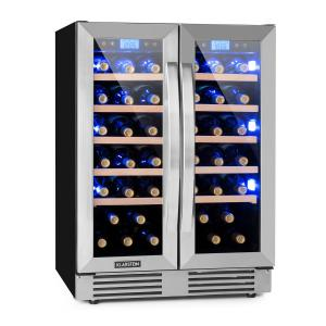 Vinovilla Duo 42 Two-Zone Wine Refrigerator 126l 42 Bottles 3-Colour Glass