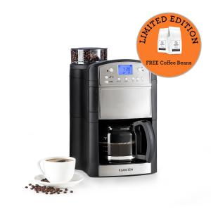 Aromatica Coffee Machine Grinder 10 Cups Glass Jug Aroma + Stainless Steel