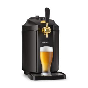Klarstein Skal Beer Dispenser Beer Cooler 5l Barrels CO2 Stainless Steel Black