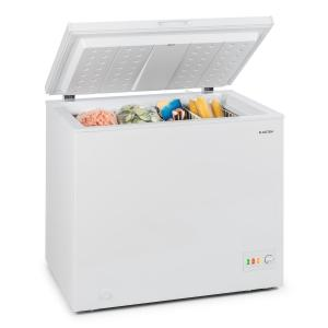 Klarstein Iceblokk 200 Chest Freezer A ++ 200 Litres 2 Hanging Baskets Floor Rollers White