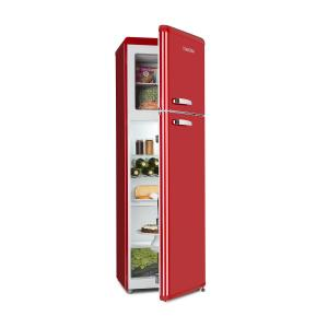 Klarstein Audrey Retro Fridge-Freezer Combination 194/56 Liter A++ red