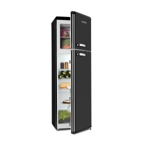 Klarstein Audrey Retro Fridge-Freezer Combination 194/56 Liter A++ black