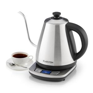 Klarstein Garcon Pro Electric Kettle 1 Litre, 1850-2200 W, Stainless Steel