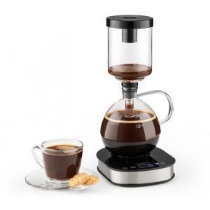 Coffee Maker 360° Base LCD Display 500W Warming Function Glass