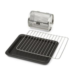 Klarstein Blaise Accessories 3-Piece Accessory Set: Grill, Baking Tray & Grill Cage