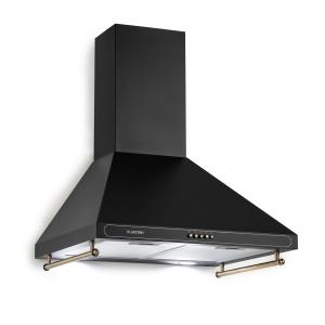 Klarstein Victoria Cooker Extractor Hood Retro Design 600m³ / h 2 LED Lamps Black