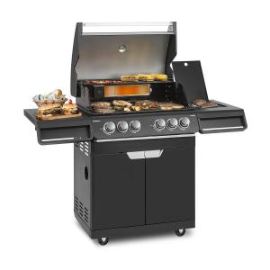 Klarstein Highgrade 4 IB Barbecue a Gas 6 Bruciatori 19,8 kW 71x46cm Barbecue Acciaio Inox
