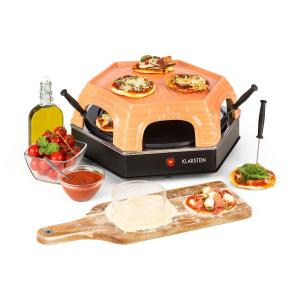 Klarstein Capricciosa Pizza Oven 1500W Cover Made of Terracotta Keep-Warm Function