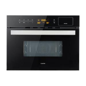 Klarstein Luminance Steam Forno a Microonde ad Incasso, Microonde 34 L: 900 W 3-in-1: Vapore, Microonde & Grill Nero