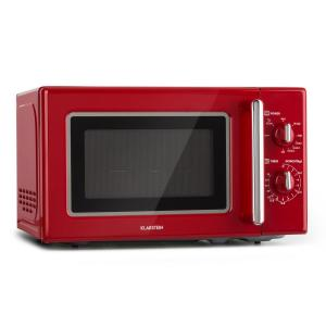 Klarstein Caroline Microwave 20l 700/1000 W Ø25.6cm QuickSelect Retro Red
