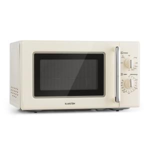 Klarstein Caroline Microwave 20l 700/1000 W Ø25.6cm QuickSelect Retro Cream
